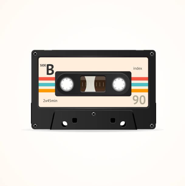 ilustrações, clipart, desenhos animados e ícones de fita cassete idade. vector - fita cassete
