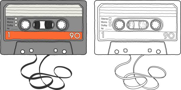 Cassette Tape vector art illustration