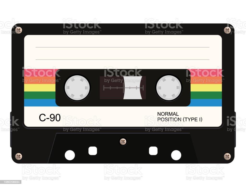 Cassette tape. Vector illustration - Royalty-free Antigo arte vetorial