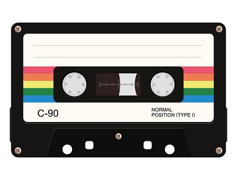 Cassette tape. Vector illustration
