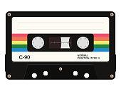 istock Cassette tape. Vector illustration 1060206934