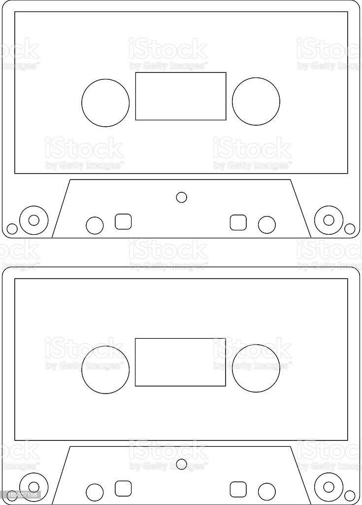 Cassette template royalty-free stock vector art