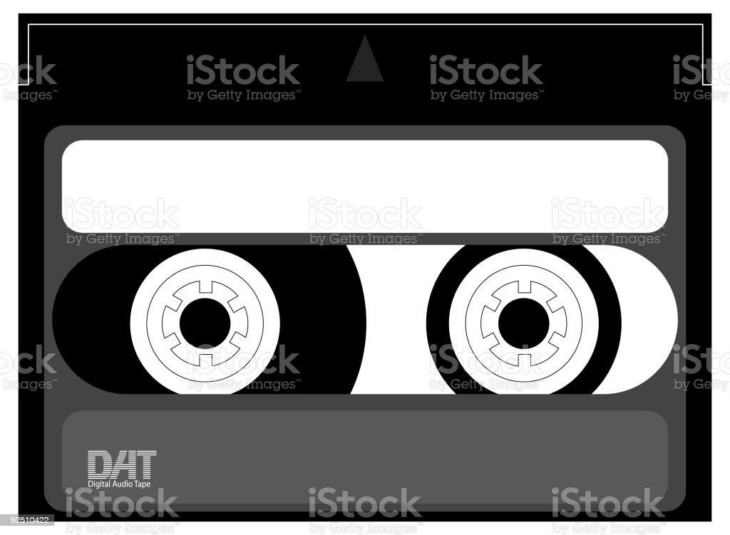 DAT cassette royalty-free dat cassette stock vector art & more images of audio cassette