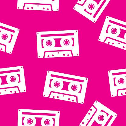 Cassettes Pattern Silhouette
