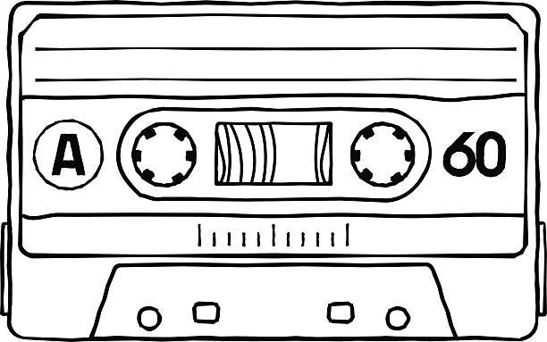 ilustrações, clipart, desenhos animados e ícones de fitas - fita cassete
