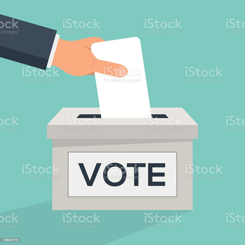Cast your vote vector art illustration