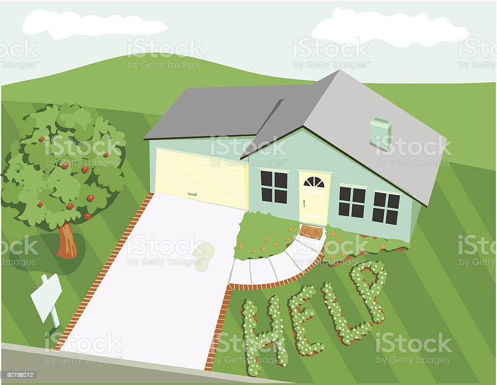 Castaway zu Hause Lizenzfreies castaway zu hause stock vektor art und mehr bilder von architektur