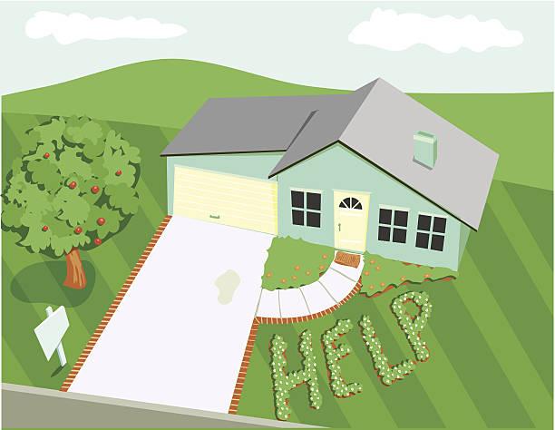 Náufrago hogar - ilustración de arte vectorial