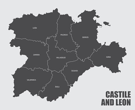 Castile and Leon provinces map