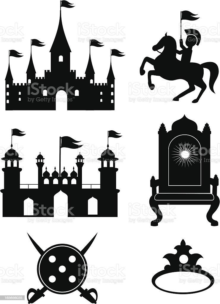 Castle clip art vector art illustration