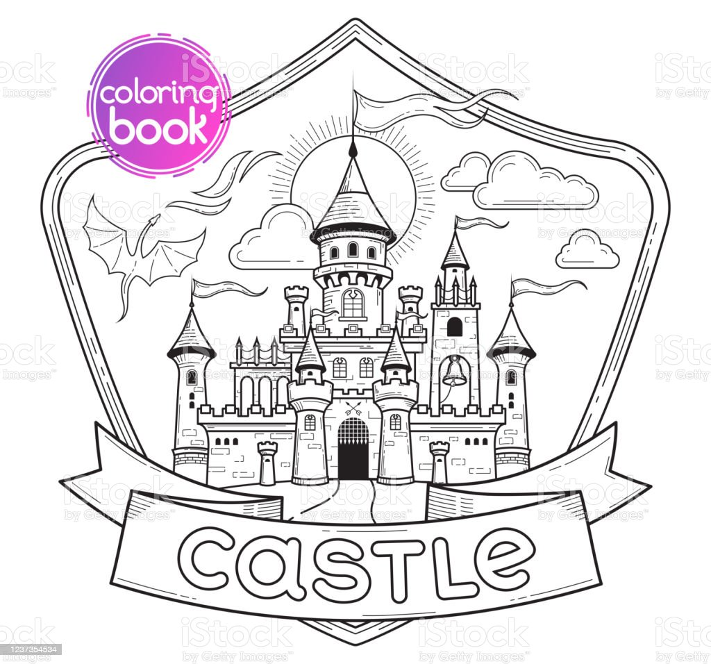 - Castle Coloring Book Stock Illustration - Download Image Now - IStock