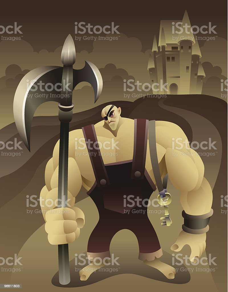 castle guardian - Royalty-free Adult stock vector