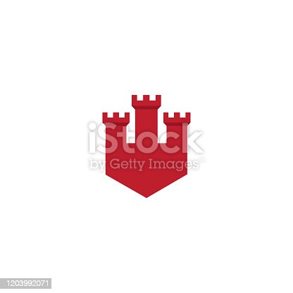 illustration vector graphic icon of castle good for branding icon, old icon, real estate icon, and defense icon