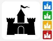 Castle Icon Flat Graphic Design