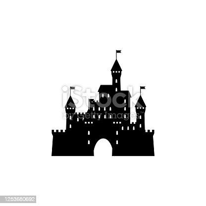 Castle icon silhouette  simple design