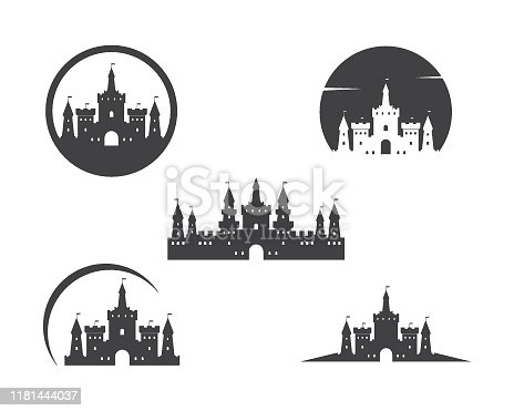 castle  icon vector illustration design template