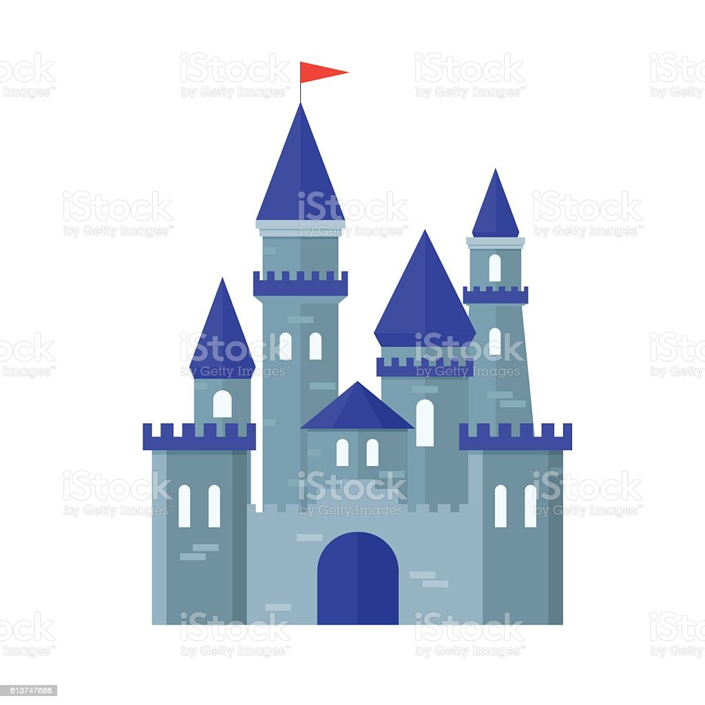 Castle Medievel Flat Design Style. Vector vector art illustration