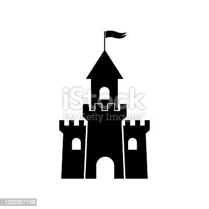 Castle Palace icon, isolated on white background