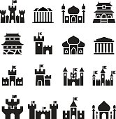Castle & palace icons