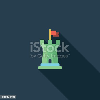 istock Castle Tower Flat Icon 835334456