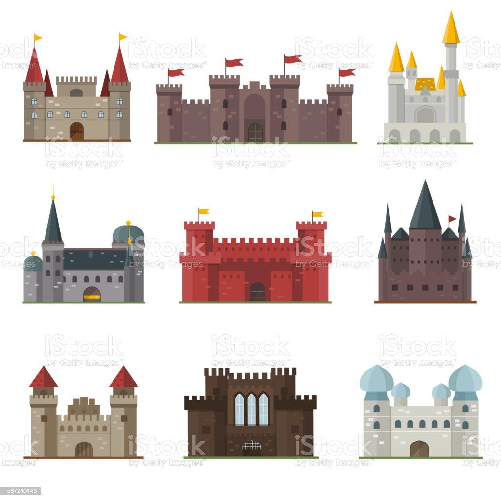 Castle tower vector building vector art illustration