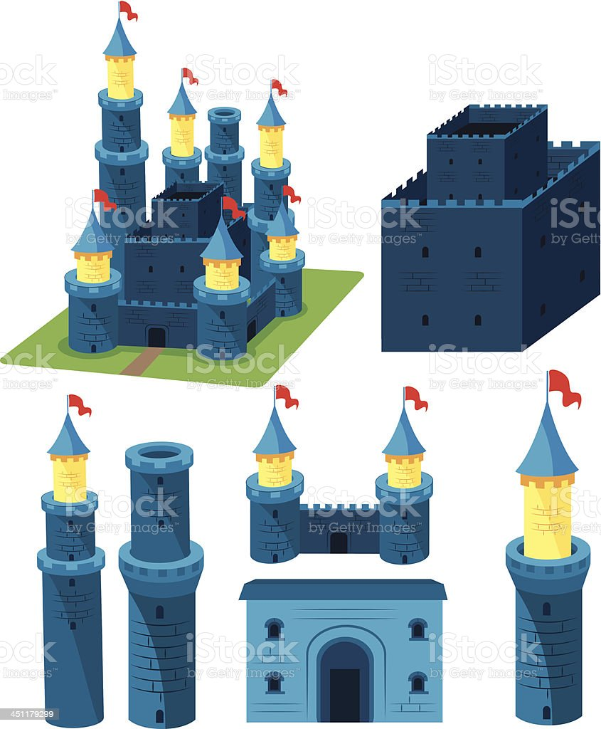Castle royalty-free stock vector art
