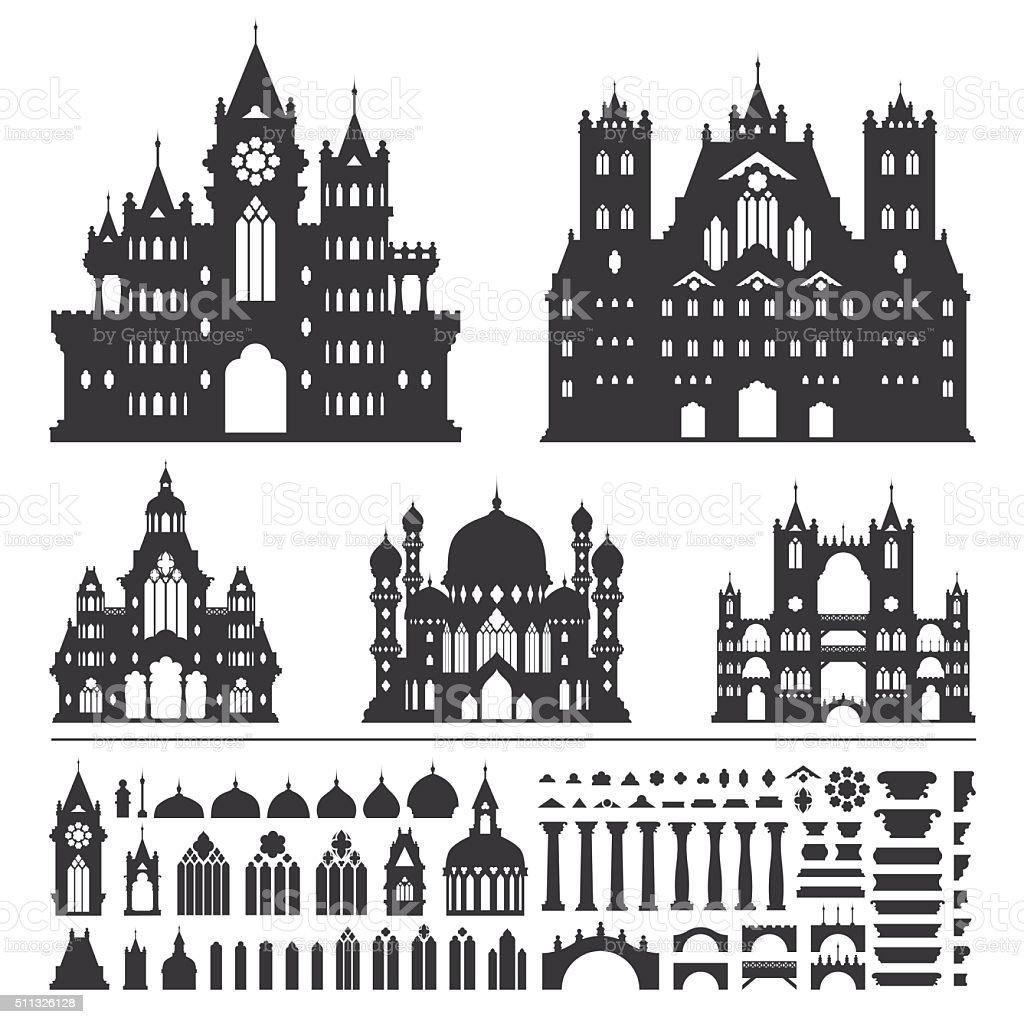 Castle Vector vector art illustration