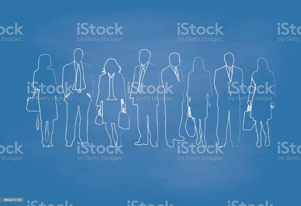Casual Business Dress vector art illustration