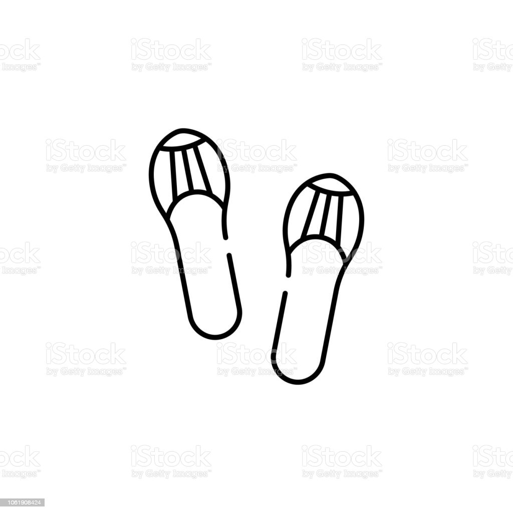 casual footwear icon. Element of Pakistan culture for mobile concept and web apps illustration. Thin line icon for website design and development, app development vector art illustration