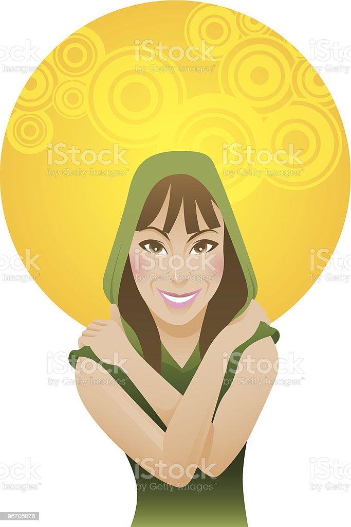 Casual Girl royalty-free stock vector art