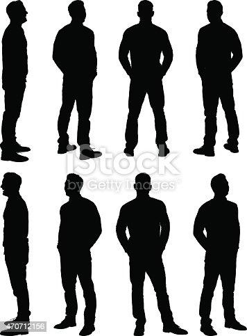 istock Casual man standing 470712156