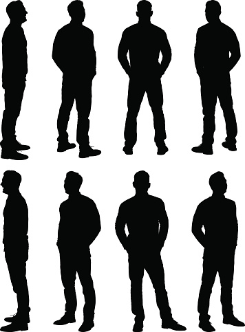 Casual man standing clipart