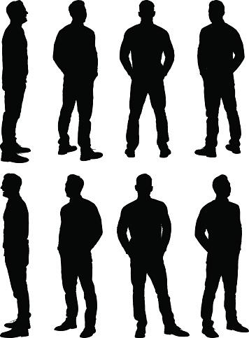 Casual Man Standing-vektorgrafik och fler bilder på 2015