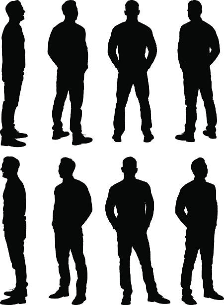 casual man standing - standing stock illustrations
