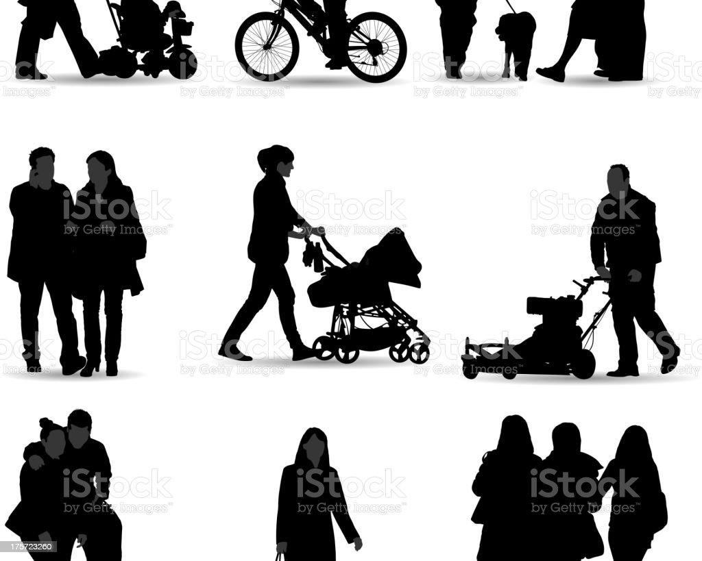 カジュアルな人々のシルエット のイラスト素材 175723260 | istock