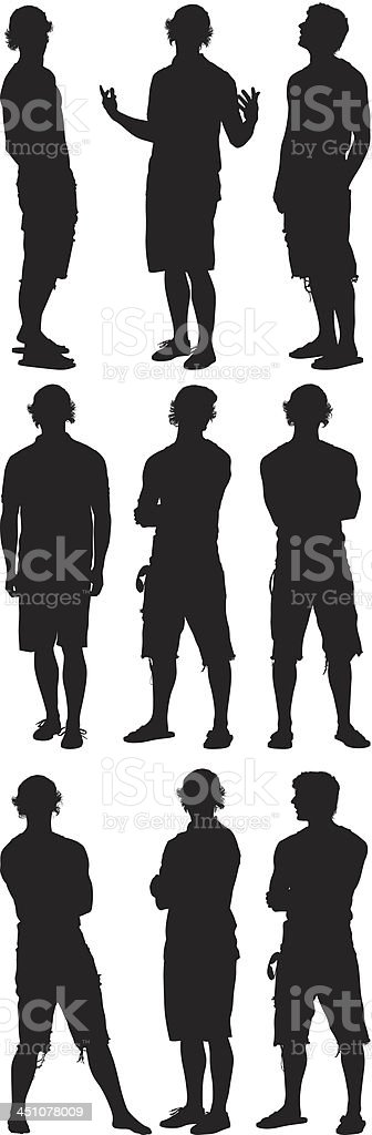 Casual people royalty-free stock vector art