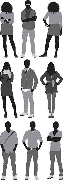 casual people - preppy fashion stock illustrations, clip art, cartoons, & icons