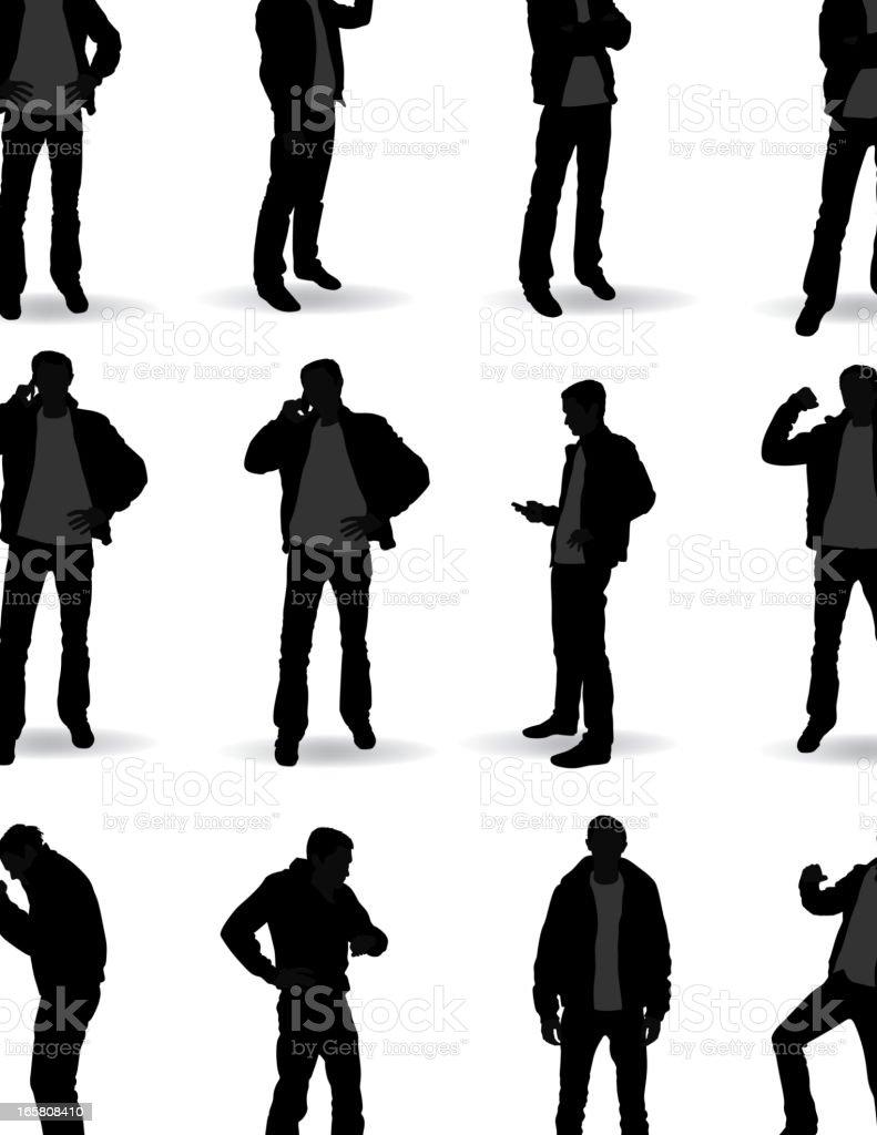 Casual standing vector art illustration