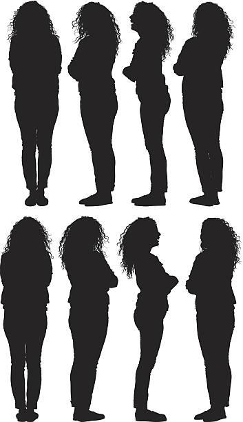 ilustraciones, imágenes clip art, dibujos animados e iconos de stock de mujer casual - cabello largo