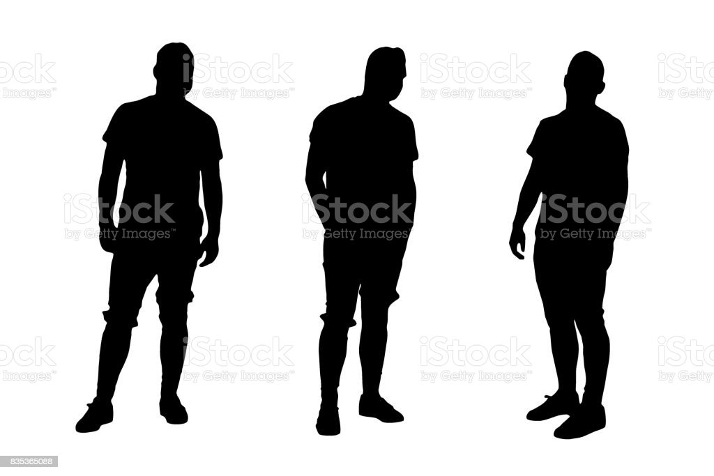 Casual Young Male Model - Vector vector art illustration