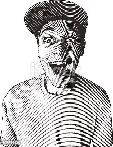 istock Casual young man with a funny surprised facial expression 816664134