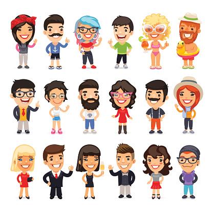 Cartoon people stock illustrations