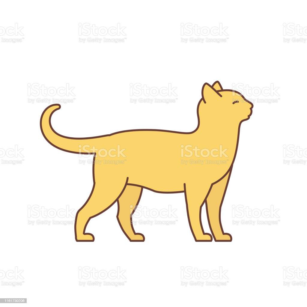 猫大人のエレガントなオレンジ色の猫動物のペット猫ベクトル