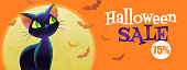 The Halloween greeting concept used for poster, banner, postcard, website banner, billboard, and graphic usage