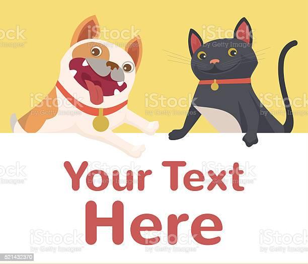 Cat and dog banner vector flat cartoon illustration vector id521432370?b=1&k=6&m=521432370&s=612x612&h=3o 3tufndxxfxr gq5bt1mpuxy9xdtexjdhrnmbnrq0=