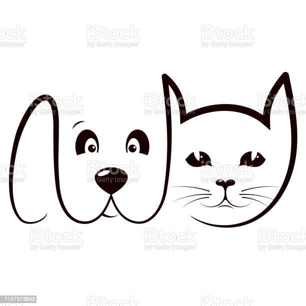 Cat and dog care silhouette vector id1147573843?b=1&k=6&m=1147573843&s=612x612&h=w hb0vdvnearja9wb appidm50sl ivaxjd1mqpa4m0=