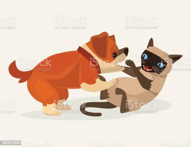 Cat and dog character fight vector id652612504?b=1&k=6&m=652612504&s=612x612&h=glfhcq2pkeakaxirhnndr52lzj03hqh zyzxufbtnxo=