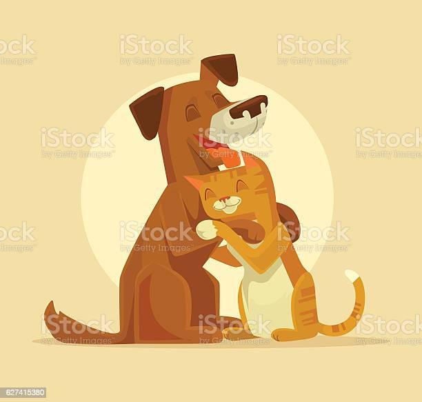 Cat and dog characters best happy friends vector id627415380?b=1&k=6&m=627415380&s=612x612&h=yj9zftqufungrfxq7 chhrpypj7p30xiwu3twp2k7dk=