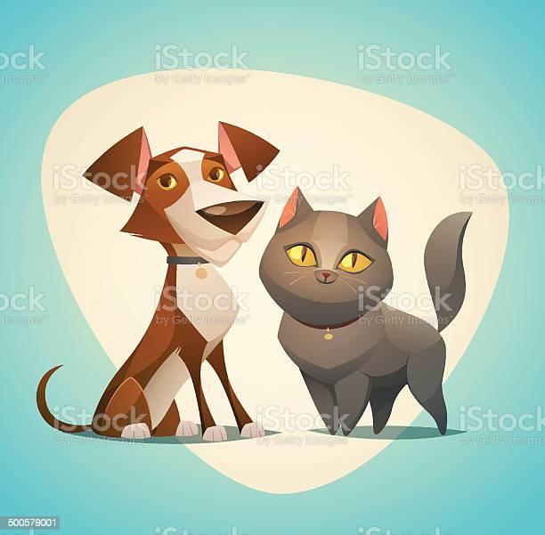 Cat and dog characters cartoon styled vector illustration vector id500579001?b=1&k=6&m=500579001&s=612x612&h=jzqh4fbfr1k77emi24jxgp 1r fcwk4kowxgfaq8tia=