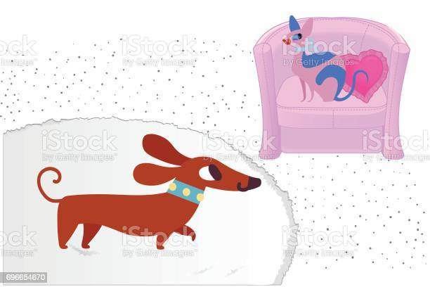 Cat and dog characters dachshund and sphinx vector flat cartoon on vector id696654670?b=1&k=6&m=696654670&s=612x612&h=v3lbw4qca uvq6pmo0nvxwcx6rmwe3jmxzbw7chxwqm=